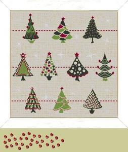 "Fiche ""Collection de sapins"" Lilipoints"
