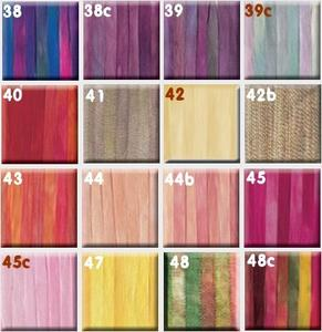 Ruban de soie 4mm House of Embroidery coloris 38 à 48c